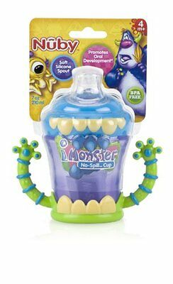 7 Oz Spill Proof BPA Free Silicone Spout Sippy Cup W/ 2 Handles For Baby Feeding