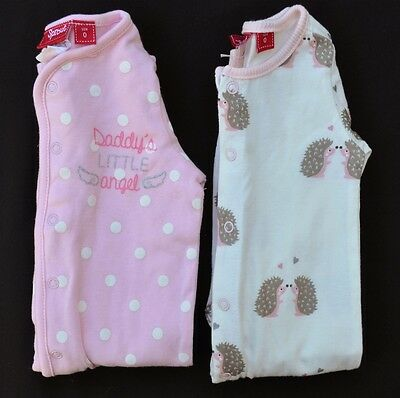 2x Baby Girls Coveralls - Size 0 - Sprout - NWT