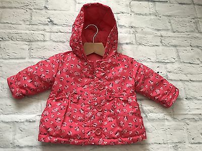 Baby Girls Clothes 0-3  Months - Cute Hooded Lined Mac Jacket Coat  New 🦋 🌺❤️