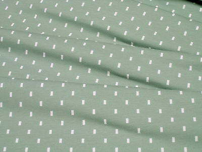 4bcc60fd106 Jersey Stenzo small rectangle on dark mint cotton knit fabric 0.54yd (0.5m)