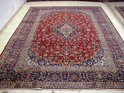 10X13 1940's SPECTACULAR FINE ANTQUE HAND KNOTTED 70+YRS KORK KASHAN PERSIAN RUG