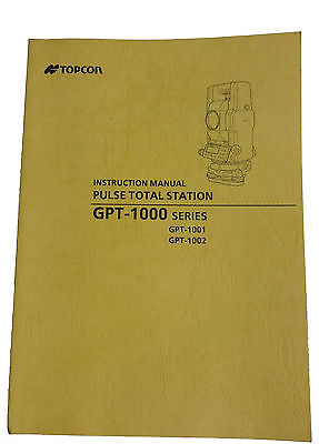 New Topcon Total Station Manuals GPT GTS