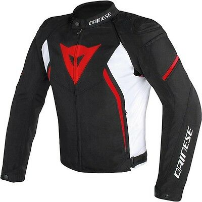 Dainese Avro D2 Tex Jacket Black White Red, Motorcycle Jacket, NEW!