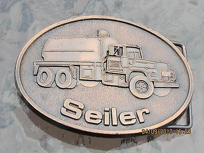 Seiler Trucking    Albion, Michigan    Belt Buckle.  1985
