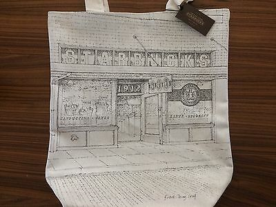 First Starbucks Sketch Tote Bag Pike Place Seattle Exclusive NWT