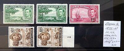 CAYMAN ISLANDS 1938/48 G.VI As Described Mounted Mint NB2332