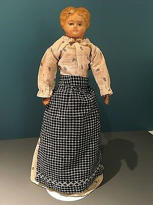"19th century 15"" Sonnenberg Papier Mache Doll"