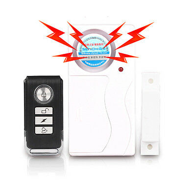 105db Wireless Remote Control Sensor Alarm System Door Window Security Safeguard