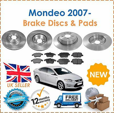 For Mondeo MK4 2007- 1.6 1.8 2.0 2.2 2.3 TDCi Front & Rear Brake Discs & Pads