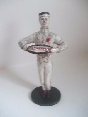 Limited Edition Coca Cola Cast Iron Waiter Butler Tip Tray Figure