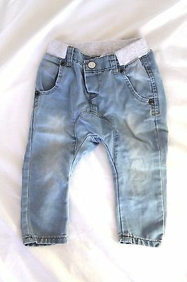 Seed Baby Elastic Waisted Faded Jeans 12-18 months Baby Trendy Boy Girl Designer