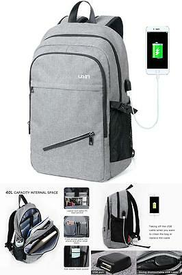 """Anti-theft Travel Backpack Business Laptop Book School Bag with USB Charger 15"""""""