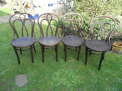 Antique set of 4 bistro chairs