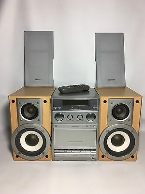 Panasonic SA-PM22 Compact Hi-Fi CD Cassette Stereo System + Remote
