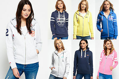 New Womens Superdry Hoodies Selection - Various Styles. 1807