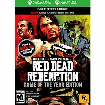 Red Dead Redemption: Game of the Year Edition Xbox 360 Xbox One New Ships Fast !