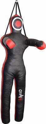 Grappling Dummy Mma Wrestling Punch Bag Judo Martial Art Synthetic Leather Un05