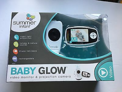 Summer Infant Baby Glow Video Monitor and Projection Camera, Model # 29350 NEW