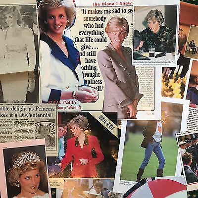 Princess Diana Clippings - 1985-1997- assorted- Prince William, Prince Harry