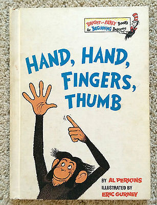 Vintage 1969 Hand, Hand, Fingers, Thumb - Dr. Suess book club edition