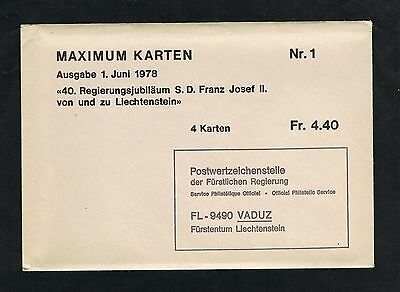 Maximum Karten Katalog  Nr. 706 - 1128  Liechtenstein 1978 - 1996  Nr. 1 - 140
