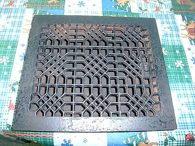 Antique cast iron louvered furnace vent register grate grill