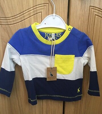 Joules Baby Boy Striped Top T Shirt 3-6 Months BNWT