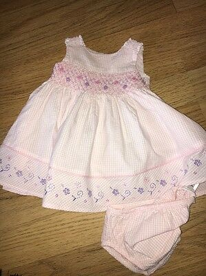 Baby Girls  Pink Checks Dress with Matching Pants Age 1 Months Marks & Spencer's