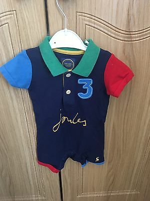 Joules Baby Boy All In One Polo Romper Grow 3-6 Months