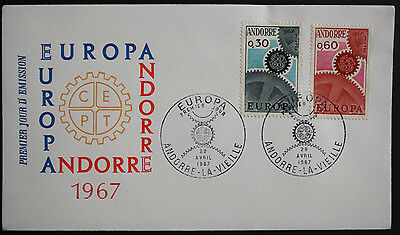 Andorra (French) 1967 Europa Illustrated Unaddressed First Day Cover