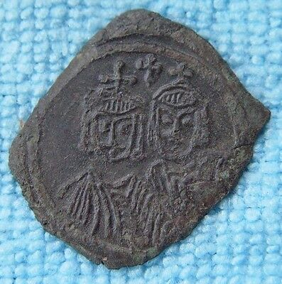 VERY RARE BYZANTINE EMPIRE SICILY AE Follis  Leo V The Armenian 813-820 AD -D278
