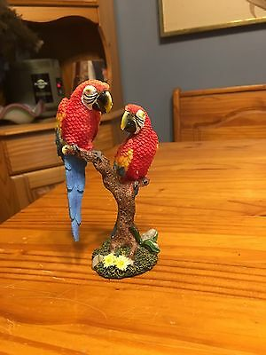 Scarlet Macaw Statue Approx 5""