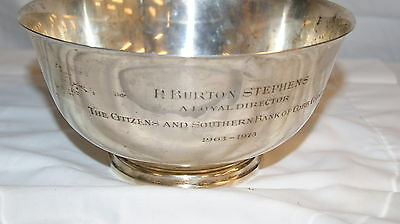 Engraved Tiffany & Co. Mid Century Sterling Silver Bowl 23617