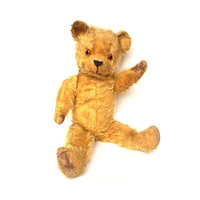 "Rare Vintage 1950s Pedigree Teddy Bear 21.5"" Inch Golden Mohair Fur British Old"