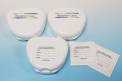 Retainer Case  Dental Orthodontic 1 EA.(White) with label