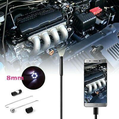 5M 6LED 8mm Android Endoscope Waterproof Snake Borescope USB Inspection Camera