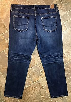 American Eagle Outfitters SLOUCHY Stretch Denim Capri Jeans Women's Size 14