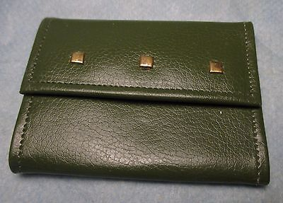 Mid Century GREEN Vintage KEY CASE Holder 6 Ring & Money Compartment car auto
