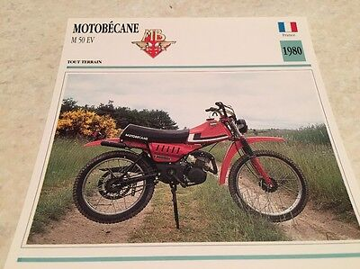 Carte moto cyclo Motobécane M 50 EV 1980 collection Atlas France