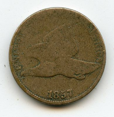 1857 Flying Eagle Cent, Good Condition