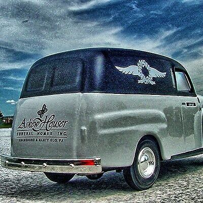 RAREST ASKEW HOUSER Professional Car Series #4 - 1950 Ford Panel HEARSE
