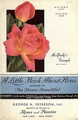 colorful nursery catalog listing roses and peonies