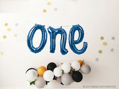 ONE Balloon Baby Hello Script Champagne Foil 1st Birthday Rose Gold Yay
