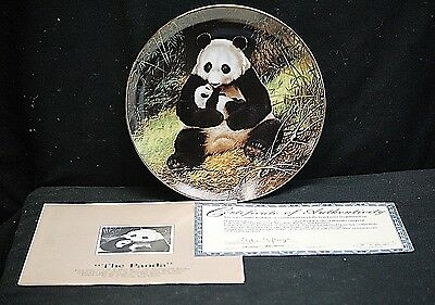 The Panda Collector Plate 1988 The Endangered Species by W.S. George 593 B