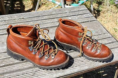 Vintage Danner Brown Leather Mens Hiking Boots Size 8