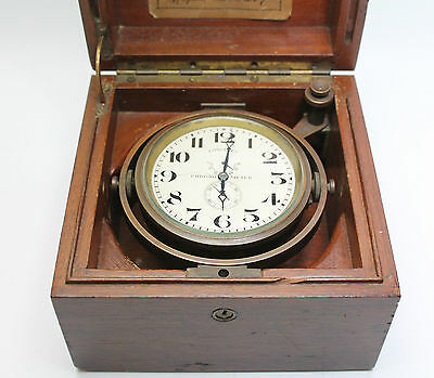 Longines World War II Marine Chronometer in Original Case in Good Cond & Working