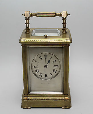 Early 20th Cent. Brass Repeating Carriage Clock by Edwards & Son of Glasgow