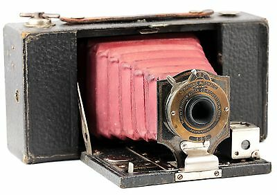 Vintage RED BELLOWS KODAK Brownie No.2 Folding Camera Model A