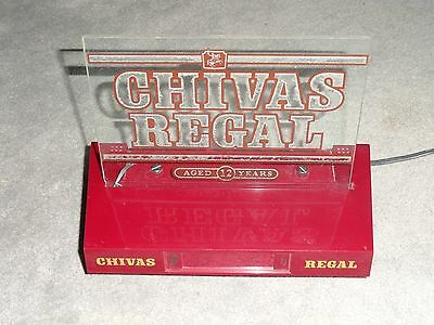 Vintage Chivas Regal Scotch Whiskey Lighted Digital Clock