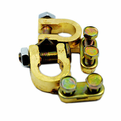 Battery Terminal Connector Pair Brass Clamp Positive And Negative Bbus